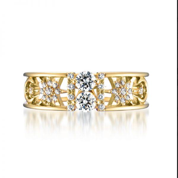 Wholesale Diamond Bangle Yellow Gold 925 Sterling Silver