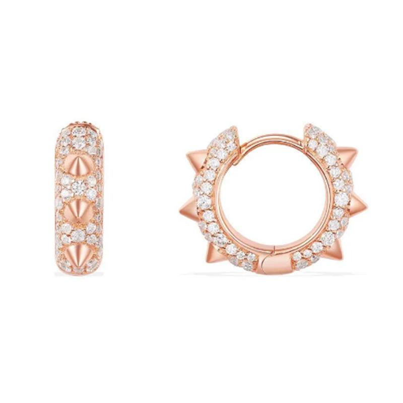 Wholesale 18K Gold Custom Rose Gold Diamonds Earrings Jewelry Manufacturer