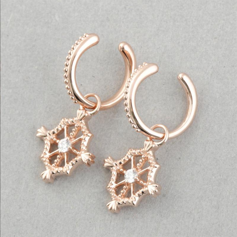 Wholesale 18K Gold Custom Diamond Earring For Christmas Jewelry Silver