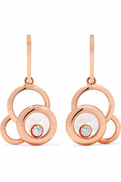 18-karat rose gold custom wholesale diamond earrings