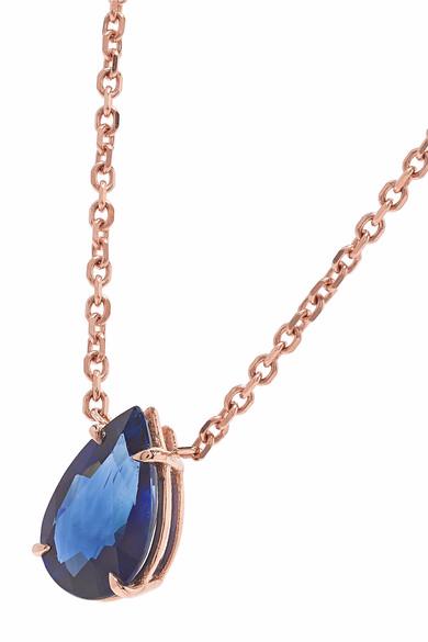 custom wholesale 18K rose gold sapphire necklace