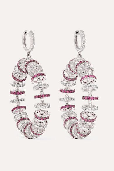 custom wholesale 18K white glod Cubic Zirconia earrings OEM ODM factory custom wholesaler