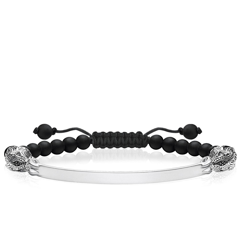 Wholesale Custom Elastic stretch bracelet OEM/ODM Jewelry 925 Sterling silver zirconia black, obsidian, onyx jewelry