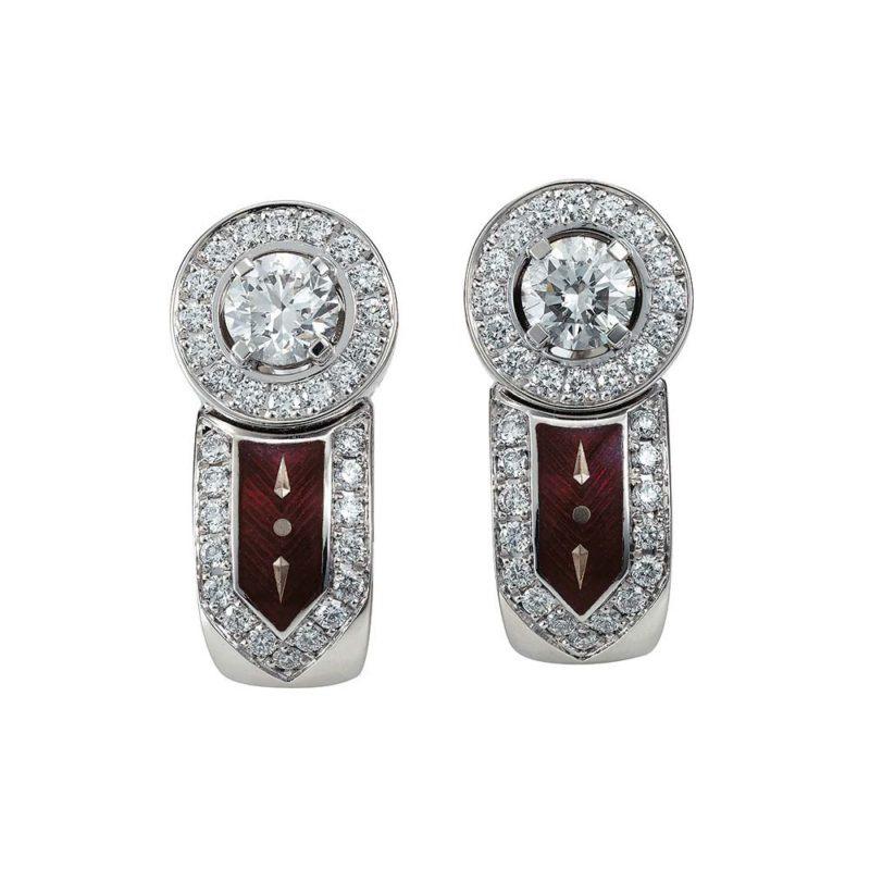 Custom Sterling Silver Cubic Zirconia earrings Women's Fashion Jewelry OEM wholesaler