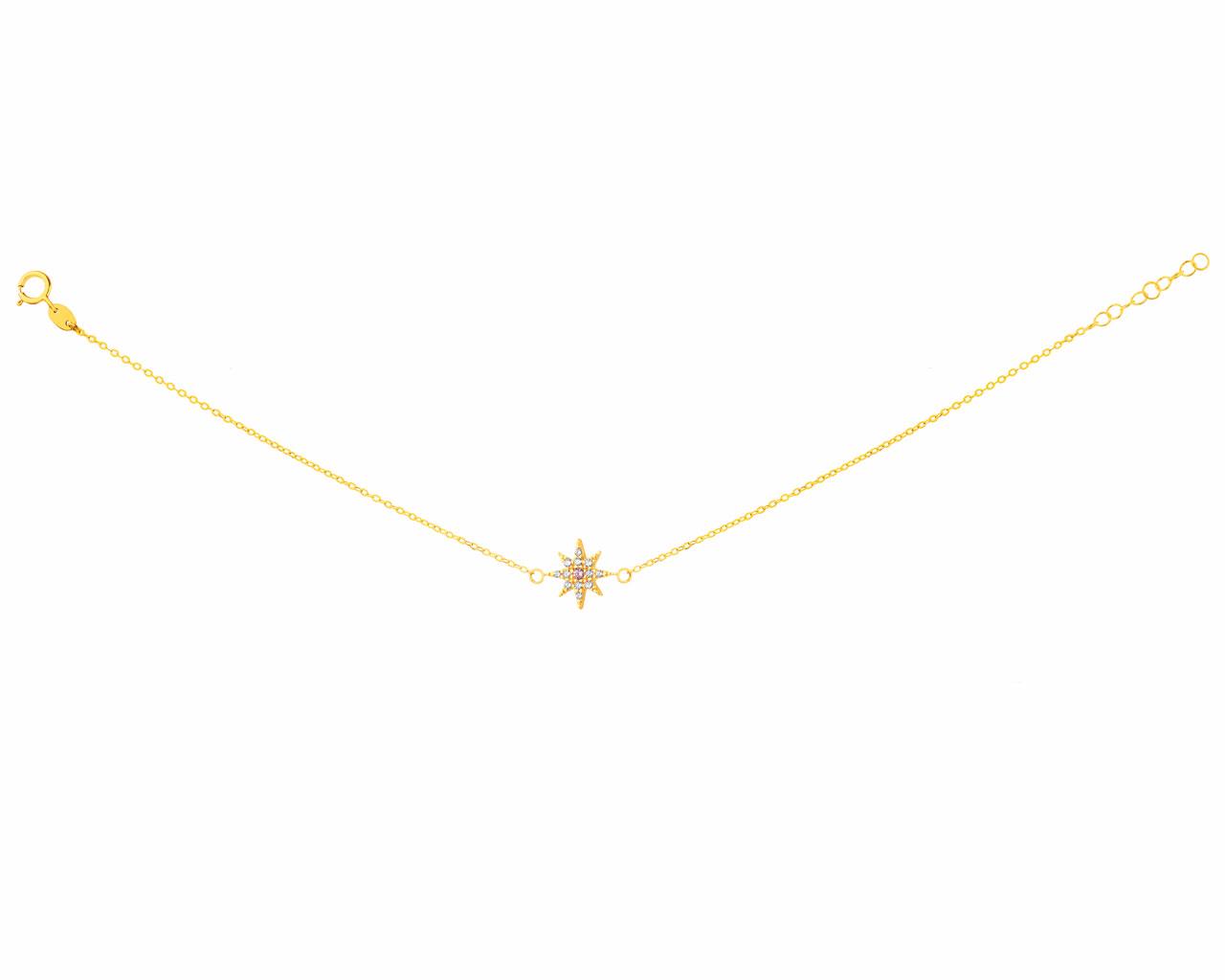 Wholesale OEM/ODM Jewelry Custom Yellow Gold Bracelet with Cubic Zirconia jewelry OEM ODM manufacturer
