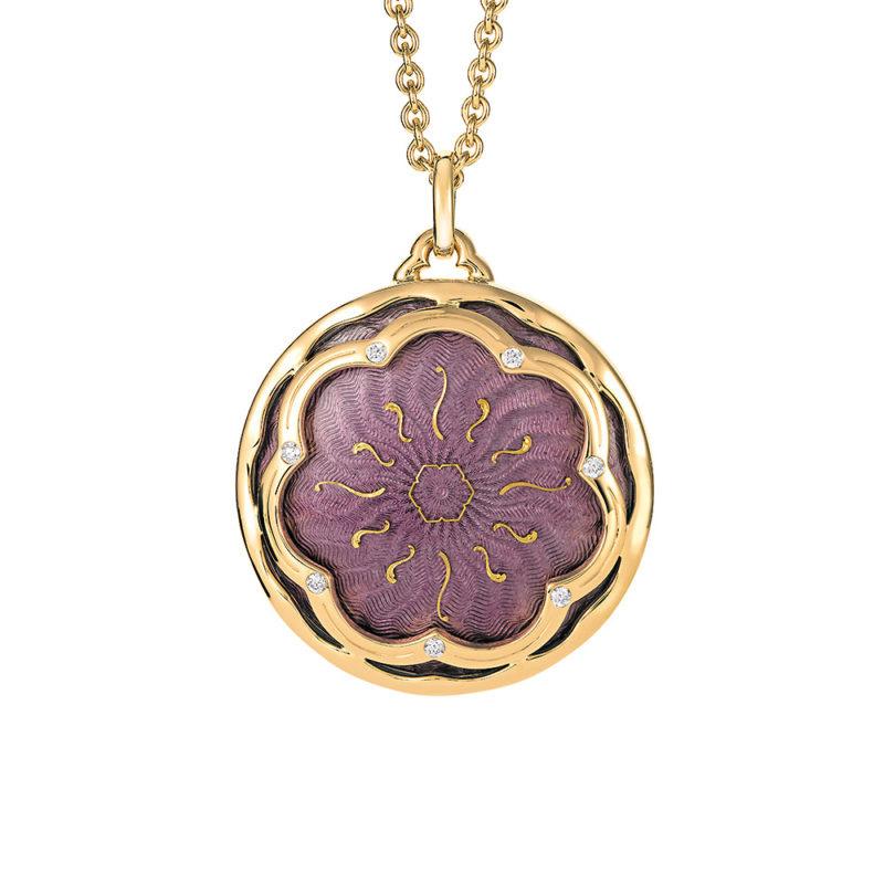 Custom design 18k gold CZ pendant necklace OEM Jewelry Factory