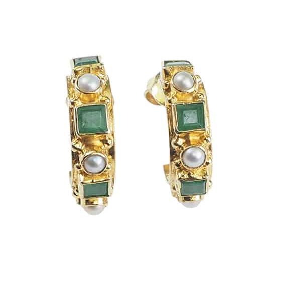 Wholesale Custom design OEM/ODM Jewelry earrings in 18K gold over sterling silver design OEM jewelry