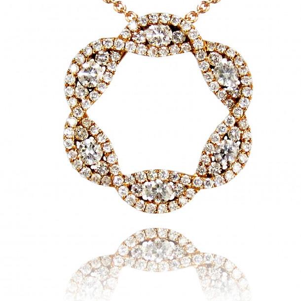 Custom made 18k yellow gold pendant Zircon Jewelry Factory Manufacturers