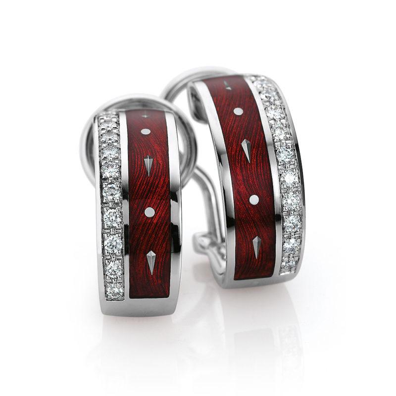 Custom made cubic zirconia earrings in 925 sterling silver, 14k gold filled