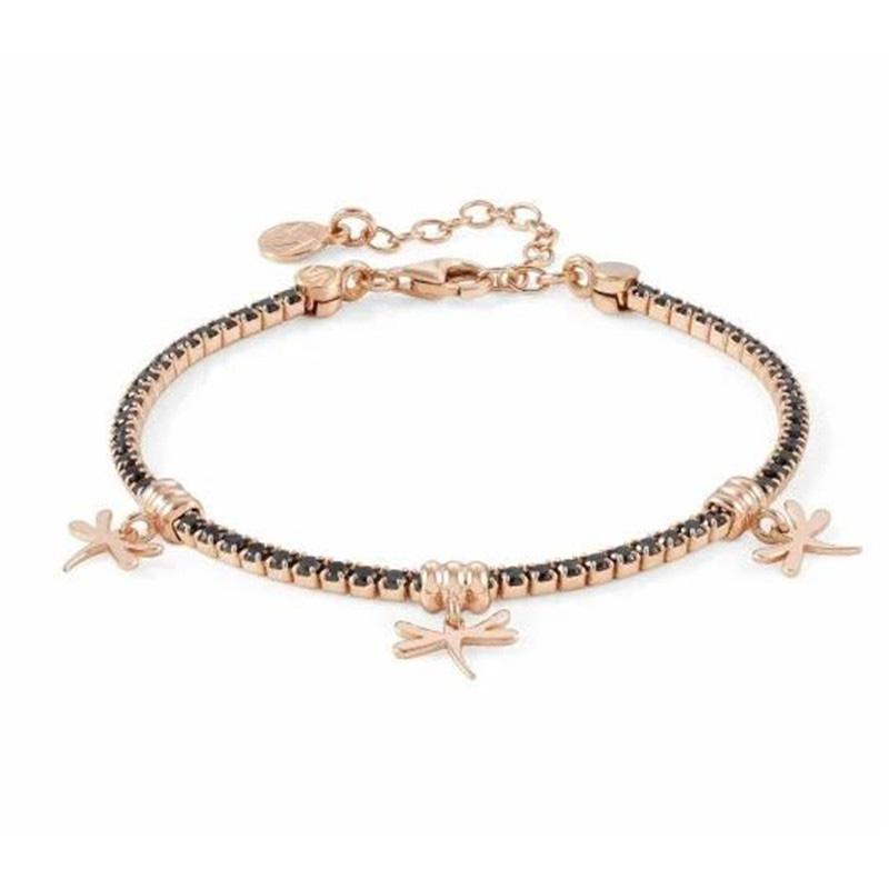 Custom made fastion women's bracelet in 18k pink gold vermeil 925 silver wholesale