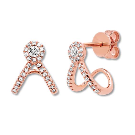 Rose Gold Earrings zircon 14K Jewelry Factory Jewelry custom wholesale OEM ODM