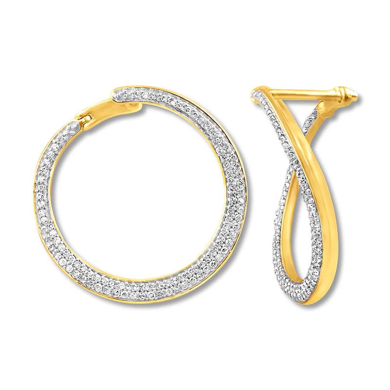 custom made OEM Hoop Earrings 10K Yellow Gold custom jewelry manufacturers china