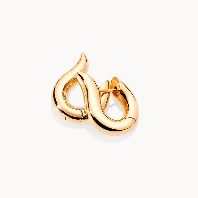 Hoop earrings medium 18K yellow gold earrings customized jewelry supplier