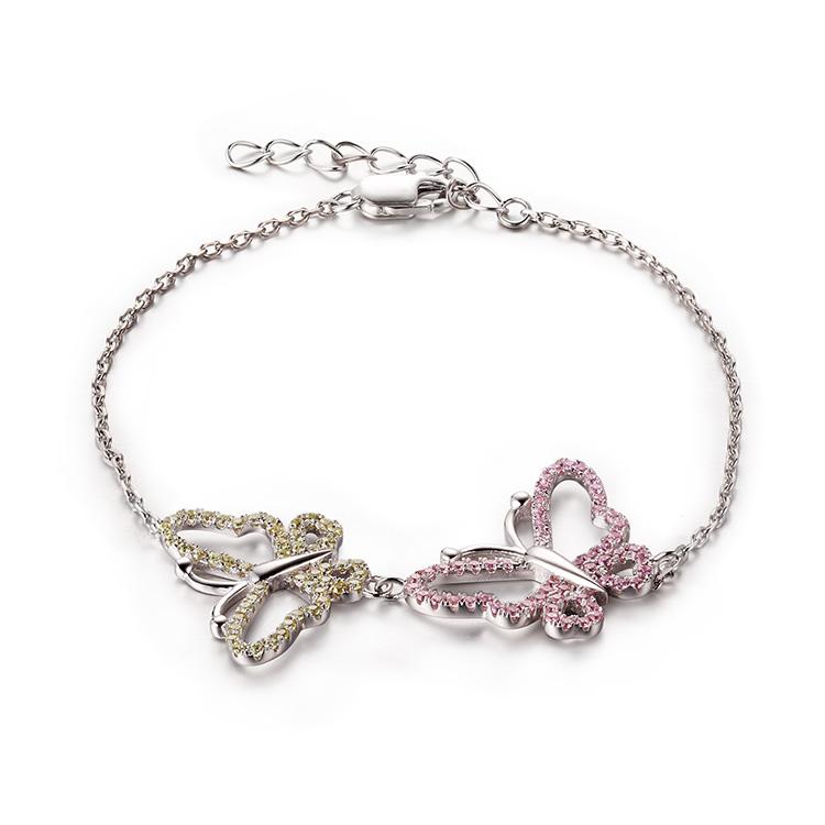 Custom wholesale Charm Amethyst Bracelets | Sterling Silver Jewelry Jewelers | Butterfly Ladies's Jewelry  Design