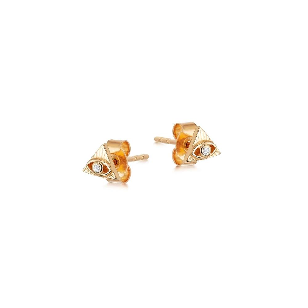 Wholesale OEM earrings jewelry 18k Gold Vermeil OEM/ODM Jewelry On 925 Sterling Silver women Fine Jewellery