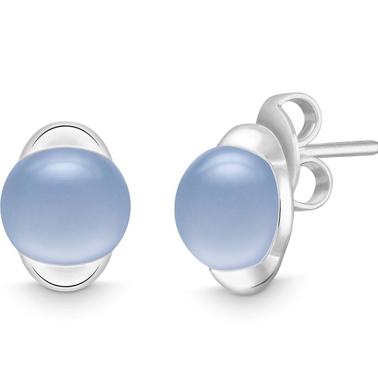 Personalised custom made 18K white gold earrings vermeil on sterling silver