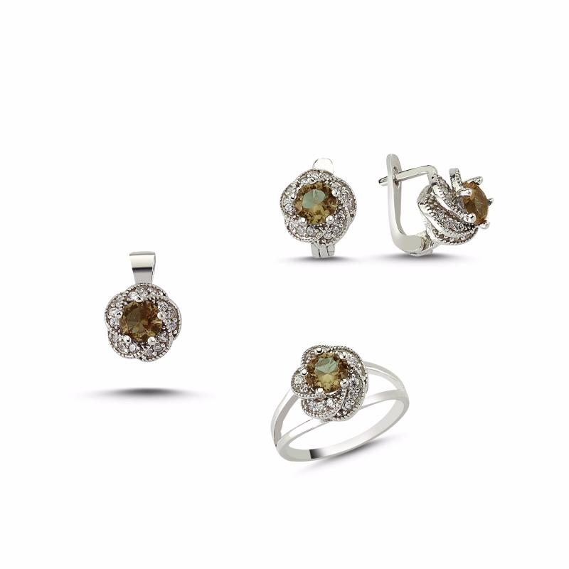 Wholesale Russian earrings ring Sterling Silver Cubic Zirconia Ring custom wholesaler OEM/ODM Jewelry