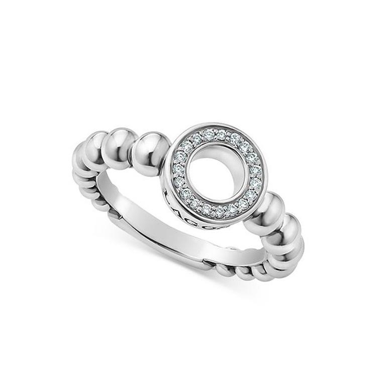 Sterling Silver Caviar Spark CZ Ring custom wholesaler