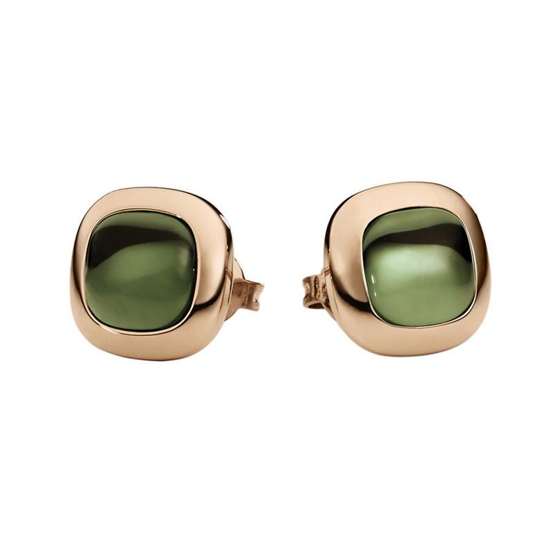 Switzerland Zircon silver Jewelry Factory wholesale Manufacturers custom made earrings in 18k rose gold vermeil