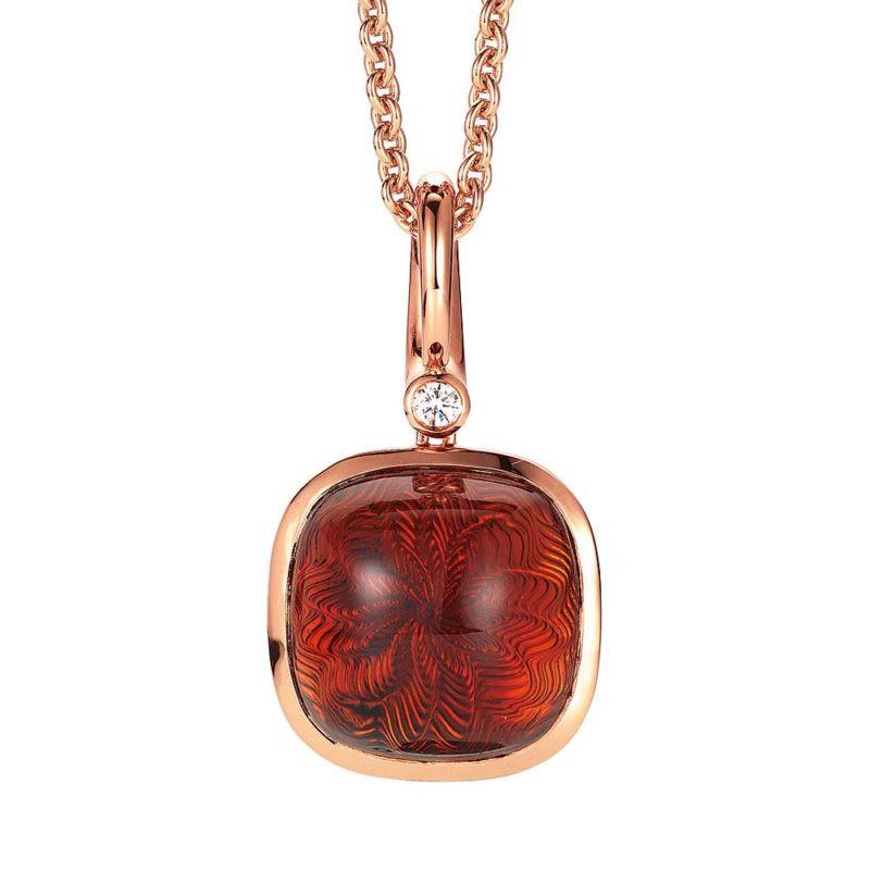 custom ODM 18k rose gold plated necklace jewelry maker