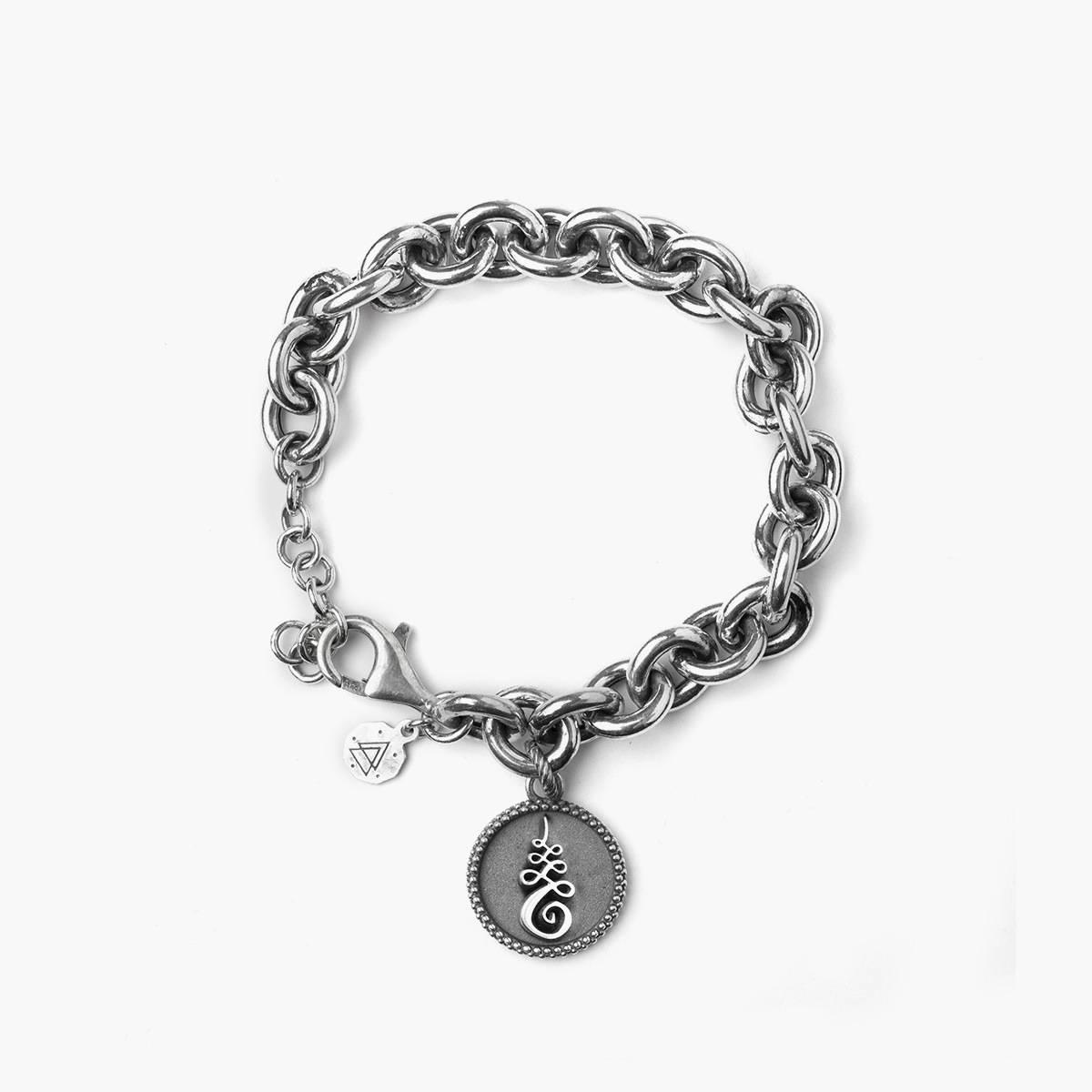 custom mens 925 sterling silver bracelet add own logo on the jewelry