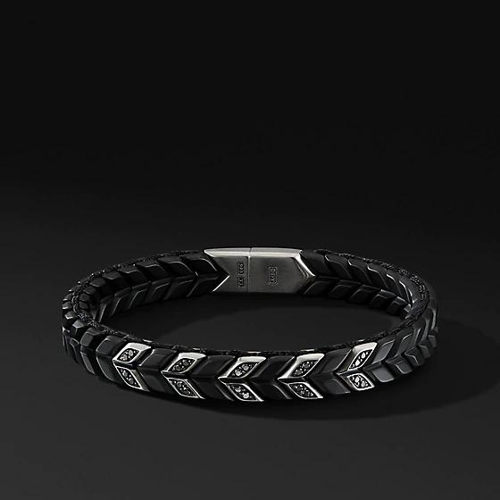 Wholesale Custom design mens bracelet plated on 100% sterling silver OEM/ODM Jewelry
