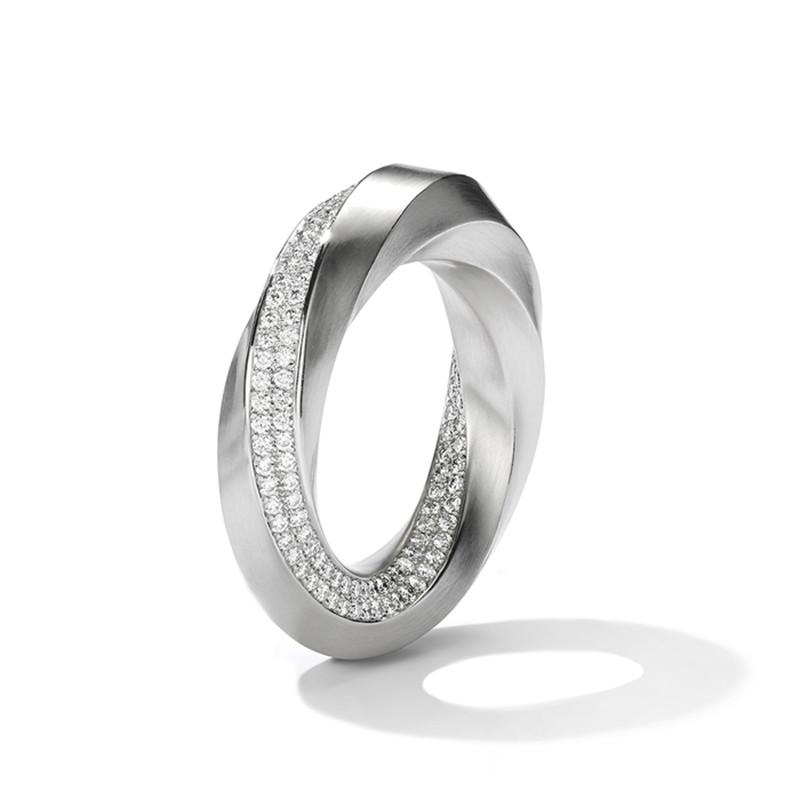 customized rhodium 925 silver CZ ring jewelry set manufacturer