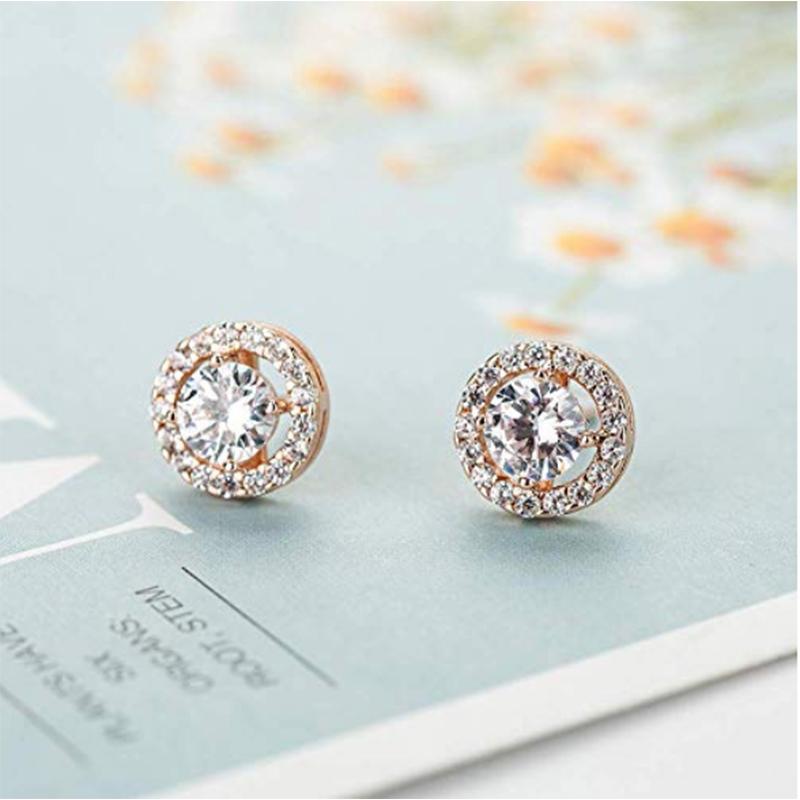 Wholesale 10K Rose Gold OEM Diamond Jewelry Set Factory China