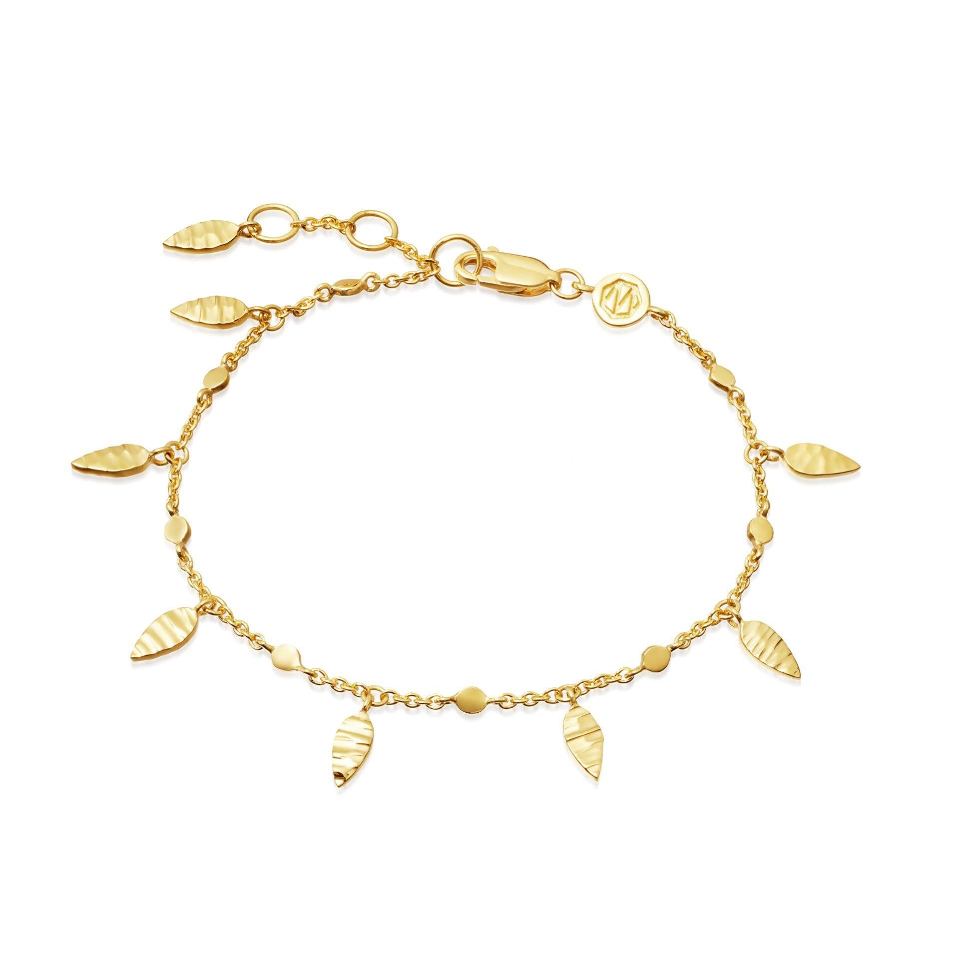 Wholesale oem 18ct Gold leaf bracelet Vermeil on Sterling Silver OEM/ODM Jewelry personalised custom design service
